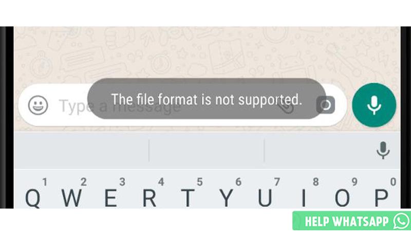 ватсап не поддерживается формат файла