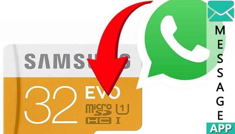 как перенести whatsapp на карту памяти
